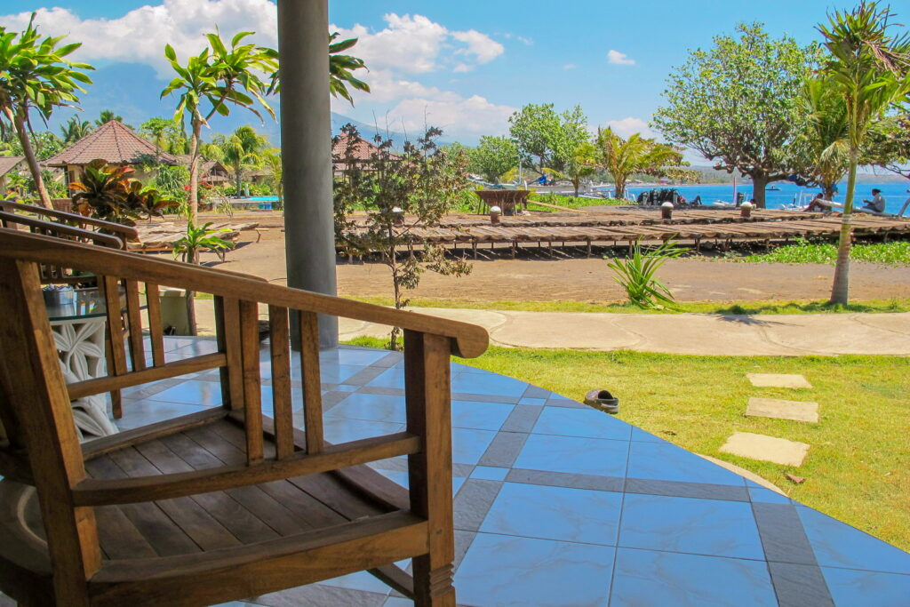 ocean view bungalow with salt panning view