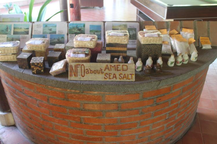 Hotel Resort Facilities & Services - Amed sea salt display