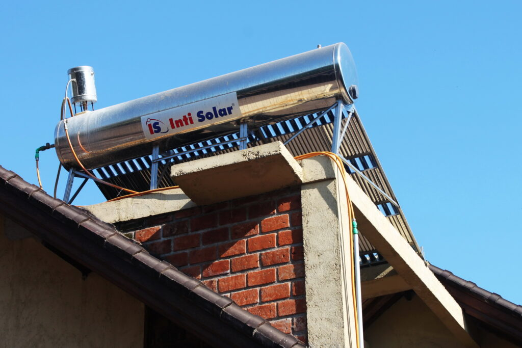 ECO policy & concept - solar waterheater in Hotel Uyah Amed