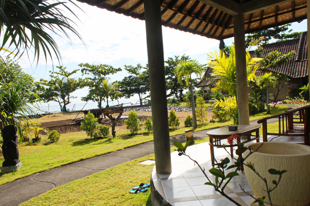 family villa with salt panning view