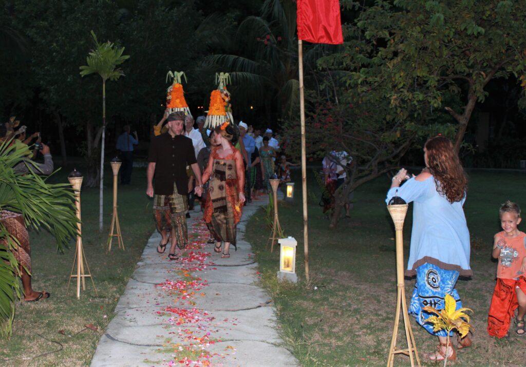 Balinese Wedding Ceremony in amed hotel eco bali accommodation package wedding balinese